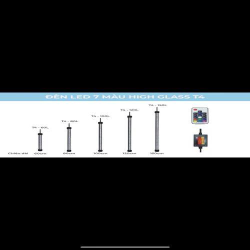 ĐÈN LED HỒ CÁ ĐỔI MÀU-ĐIỀU KHIỂN TỪ XA T4 HIGH CLASS 1,5M